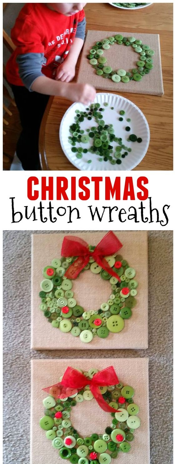 14. Christmas Button Wreath