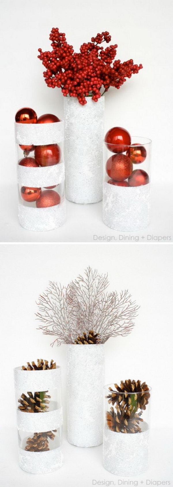 16. Christmas Vases