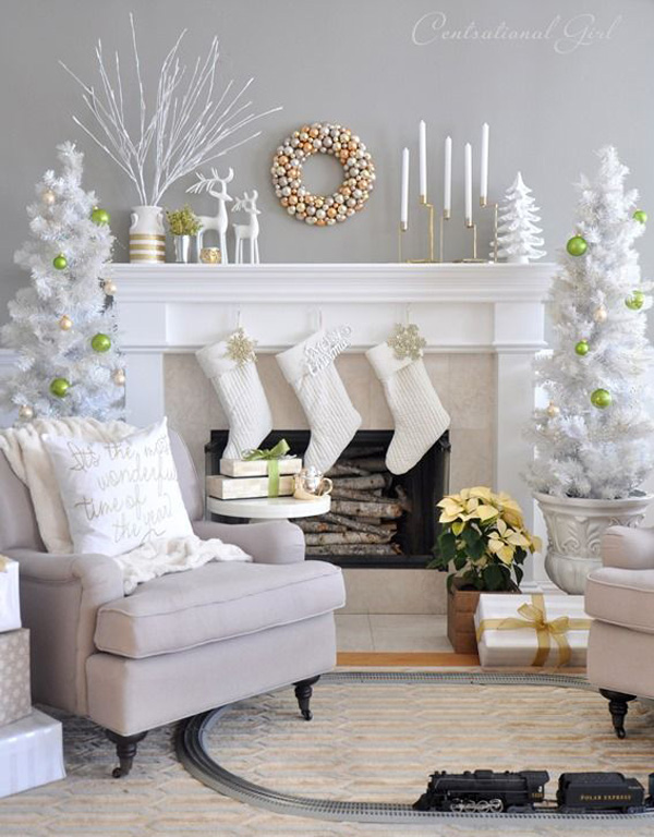 4.DIY White Christmas