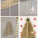 6. Twine Christmas Tree Card