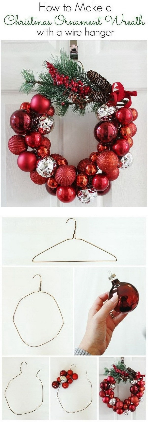7.DIY Christmas Ornament Wreath