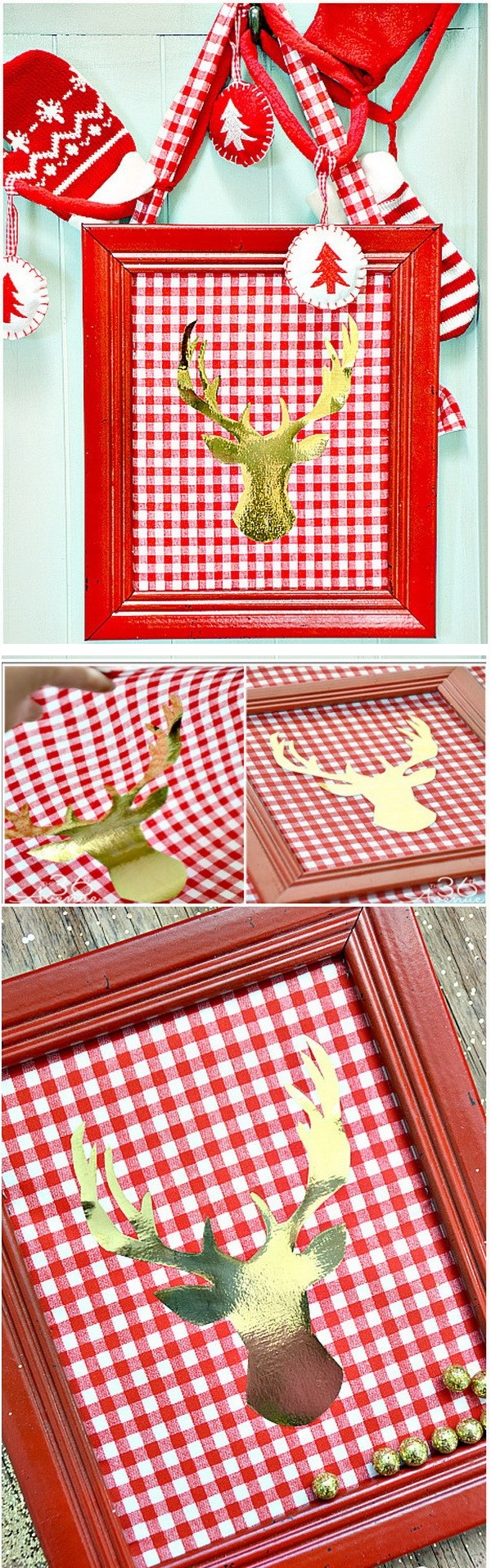 8.DIY Christmas Canvas Sign