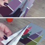 9. Paint Chip Christmas Cards