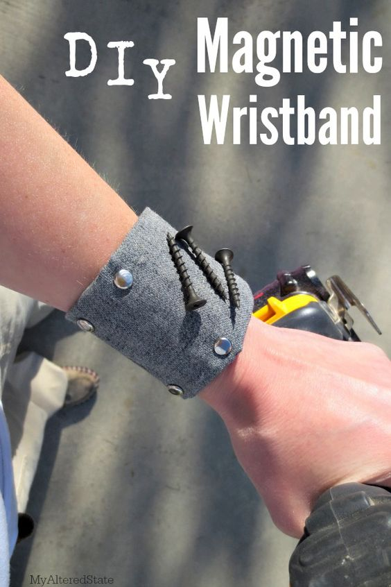 10. DIY Magnetic Wristband