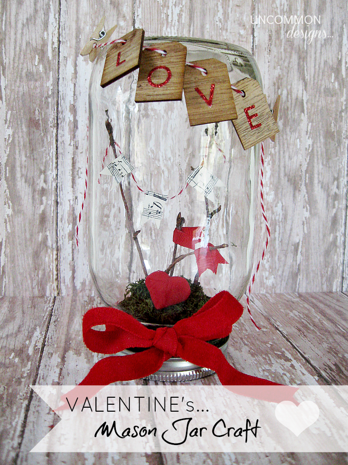 14. Valentine's Mason Jar Craft