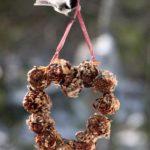 7. Pine cone heart