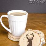 8. Painted Wood Coasters