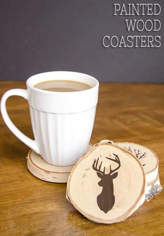 8. Painted Wood Coasters