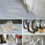 1. DIY Farmhouse Style Corbel Shelves