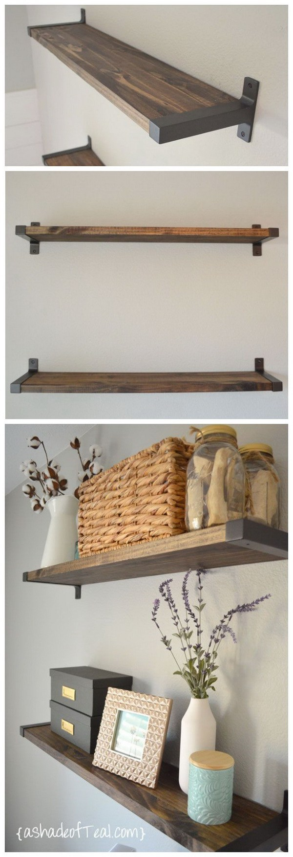 12. Simple Wall Shelves