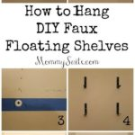 2. DIY Faux Floating Shelves