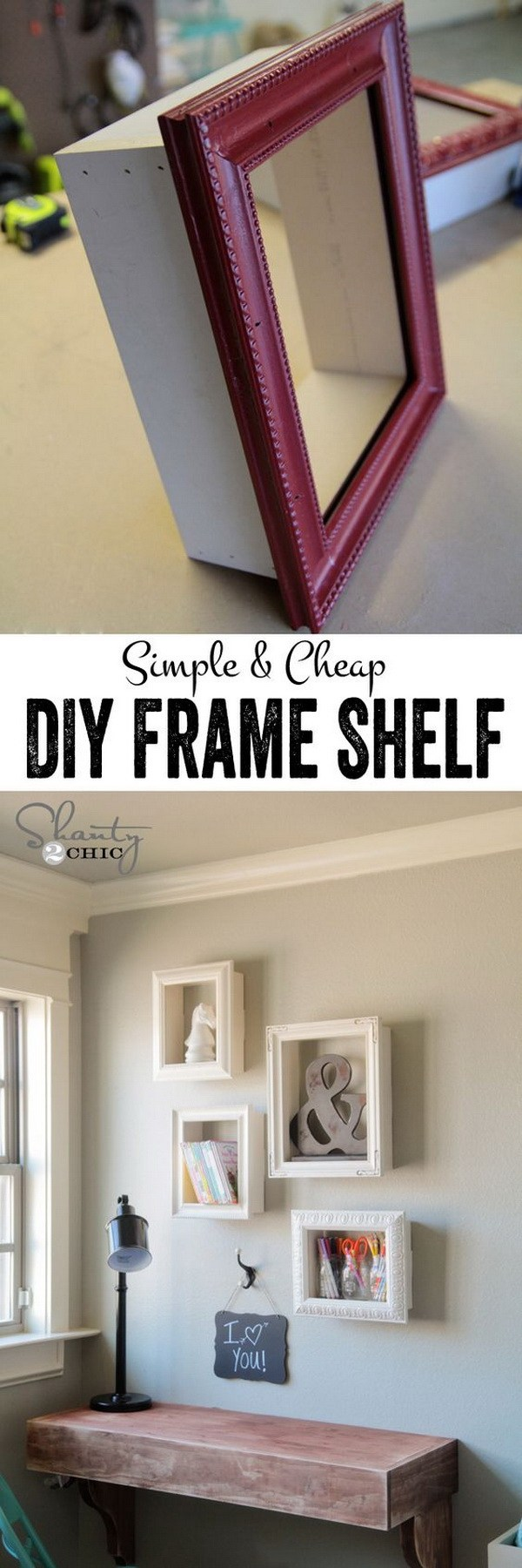 7. Simple DIY Frame Shelf