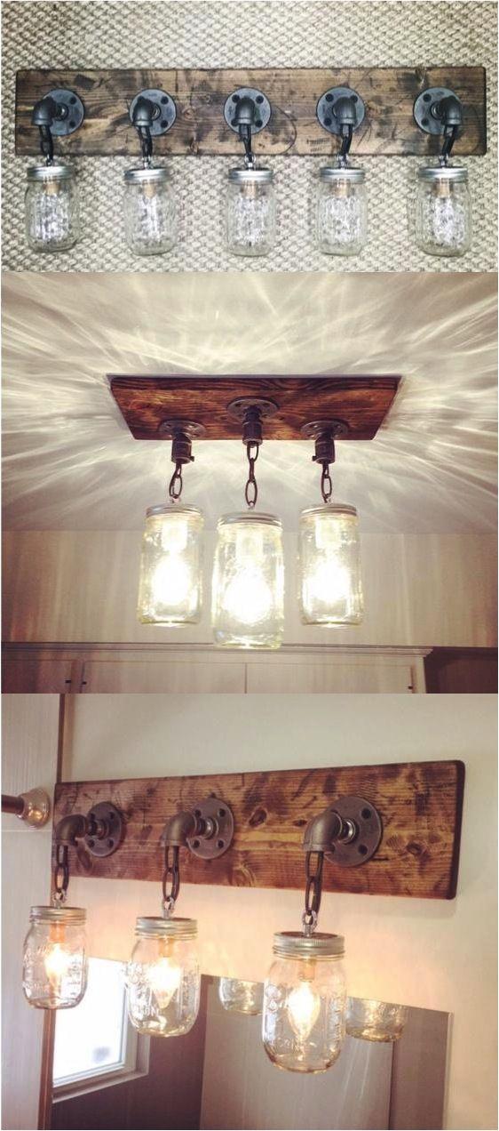 1. Simple Jar Lightbulb Covers