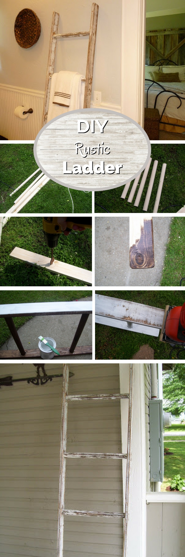 13. DIY Rustic Ladder
