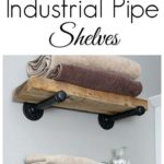 16. DIY Industrial Pipe Shelves