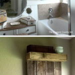 17. Easy Rustic Bathroom Shelf