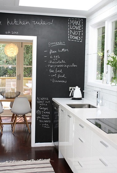 5. Blackboard Kitchen Wall