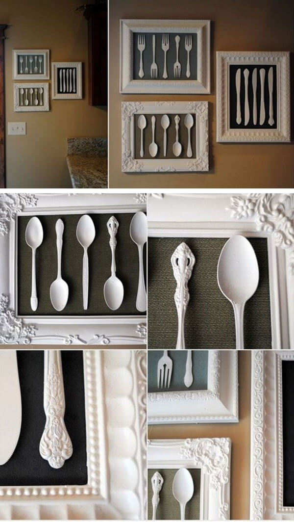 7. Framed Utensils